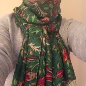 Beautiful Anthropologie patterned silk scarf